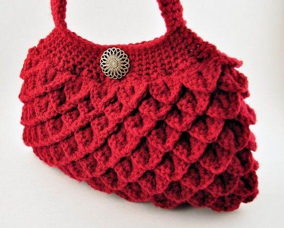 Crochet Crocodile Stitch Purse Bag by CrochetBeautyShoppe on Etsy ... 3eea477573405