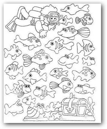 Imágenes para colorear animales del mar | Fotos o Imágenes | Portadas para Facebook