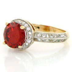 10k Solid Yellow Gold Ruby-red CZ Ring Jewelry Jewelry Liquidation. $188.67. Comes with FREE fancy black leatherette ring box!. Made with Real 10k Gold. Made in USA!