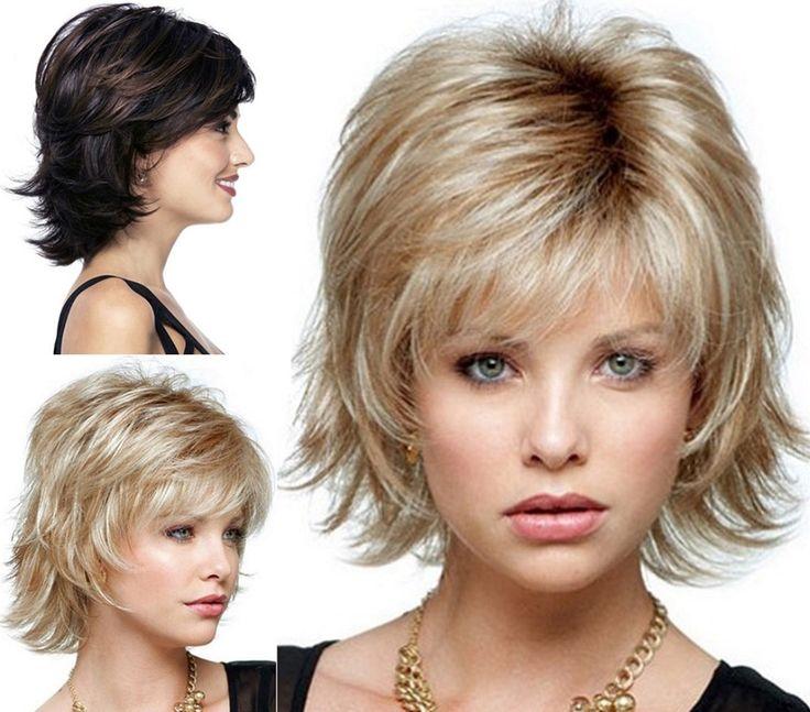 ふわふわショートかつらブロンド合成カーリー短い髪かつら多くの色のため選択送料無料