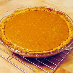 "Fresh Pumpkin Pie. I made this 10/10/14 Very good recipe. Used a 24"" pumpkin. I used whole milk, less honey and added pure maple syrup. I have lots of sugar pumpkins in the garden and will use this recipe a lot.  ~Fay~"