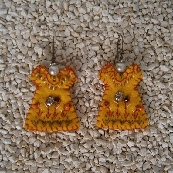 Check out this item in my Etsy shop https://www.etsy.com/listing/520276083/handmade-earrings-felt-dangle-jewelry