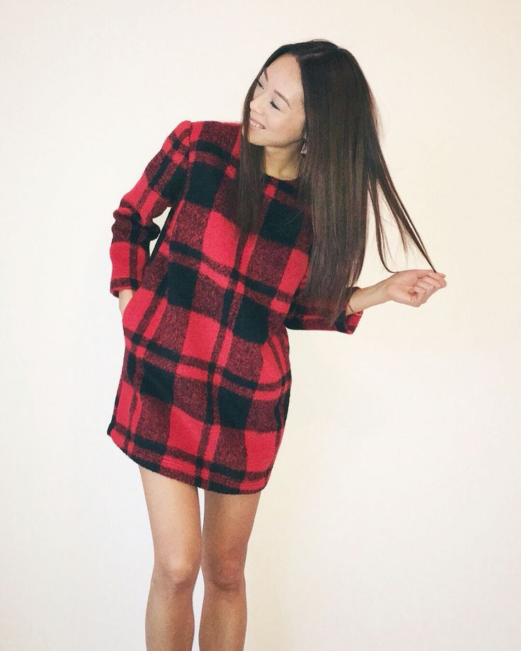 My style: Red check/plaid holiday dress #dailylook #dailyoutfit #fashion #fashiondiaries #lookbook #mystyle #ootd #outfit #ootdwatch #style #stylegram #styleinspo #streetlook #streetstyle #streetfashion #wiwt #whatiwore #forever21