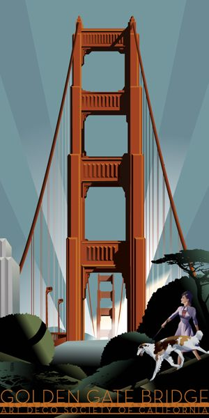 Art Deco Society of California & the Golden Gate Bridge ~ an art deco design.  ...I will never get tired of seeing this bridge ~ it will always feel like coming home.