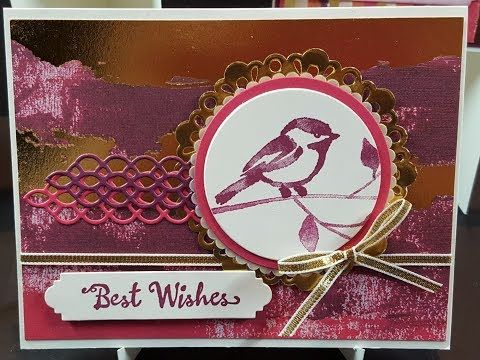 Sweethearts Online Card Class Project 5 Stampin' Up! Petal Palette Stamps - YouTube