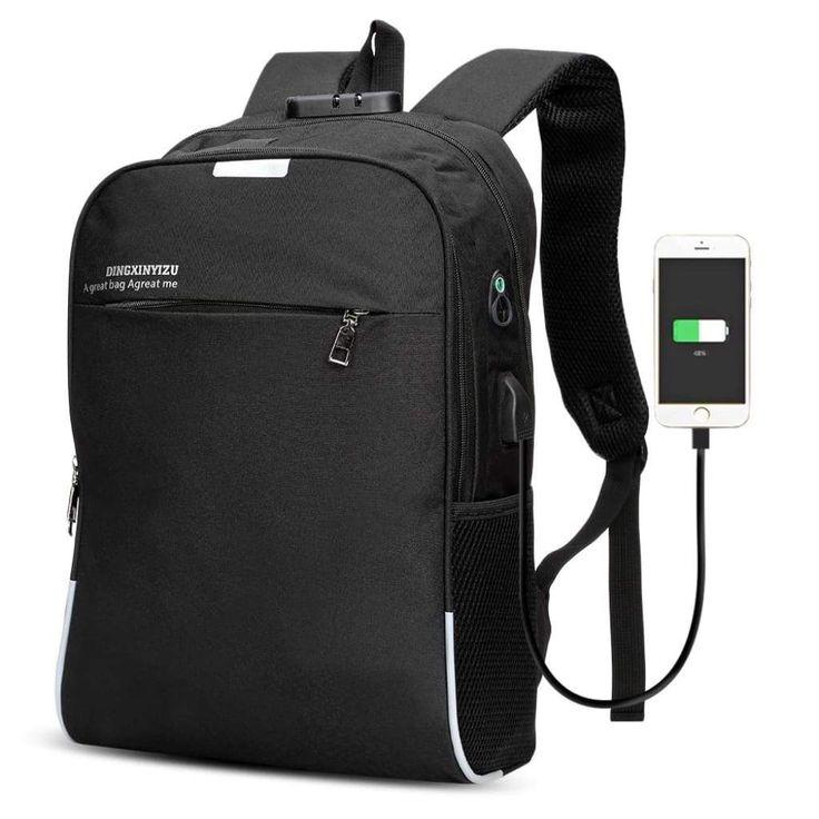 DINGXINYIZU <b>USB Charging</b> Bag Night Reflection <b>Anti</b>-<b>theft Backpack</b>
