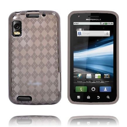 Tuxedo (Harmaa) Motorola Atrix 4G Silikonisuojus