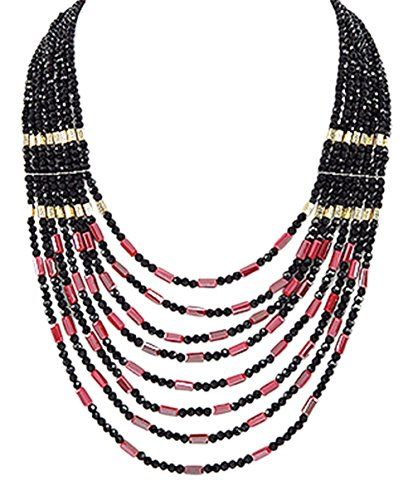 Glass Bead and Crystal Glass Black and Fuschia Pink Multi-Row Graduated Women's Statement Necklace 21 Inches 925e http://www.amazon.co.uk/dp/B018D4FVZ8/ref=cm_sw_r_pi_dp_D9w7wb0F40X96