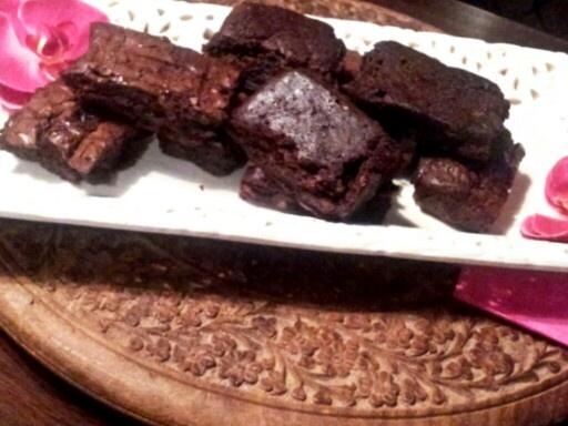 Turkish delight brownies useing YIAH Rosé vinegar.