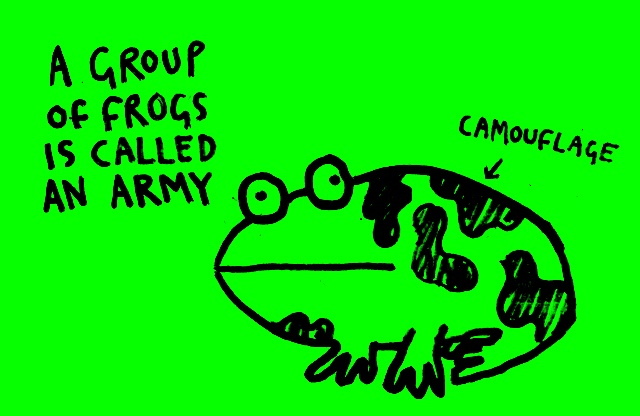 A group of frogs is called an army