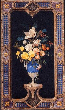 FLORENCE~ Museo Opificio Pietre Dure~ Vase of flowers~ TuscanyAgriturismoGiratola