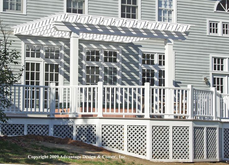 how to cover deck lattice - Google Search