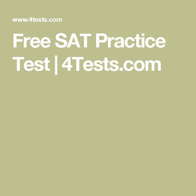 Free SAT Practice Test   4Tests.com