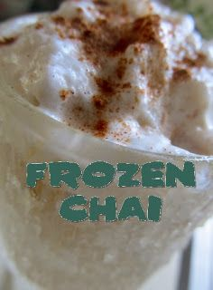 Frozen Chai Latte | Awesome Recipes | Pinterest