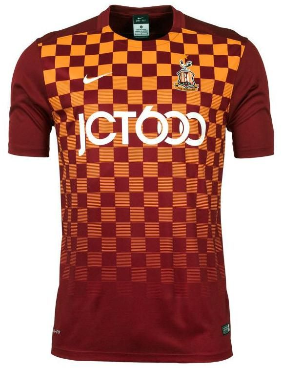 These are the new Bradford City shirts 2015/2016, Bradford's new home and away tops for the upcoming League One season. Made by Nike, the new BCAFC 2015/16 kits were officially unveiled on Ap…