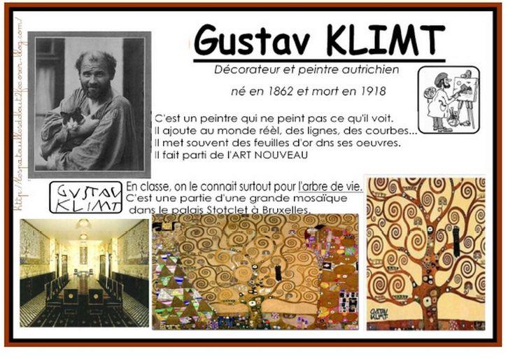 Les arbres de Gustav Klimt sont toujours une source d'inspiration pour les maîtresses de maternelle. Cette fois-ci, c'est une classe de moyens/grands qui a travaillé sur les oeuvres de cet artiste.