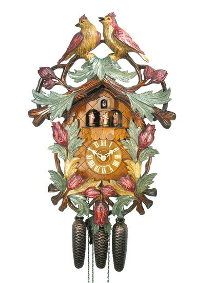 cuckoo clock from the black forest with certificate of carved clock with 8 day movement from the cuckoo clock august schwer - Black Forest Cuckoo Clocks
