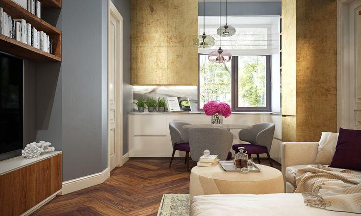 Home Interior Design 3D Renderings, Colors You Like, Wood-4