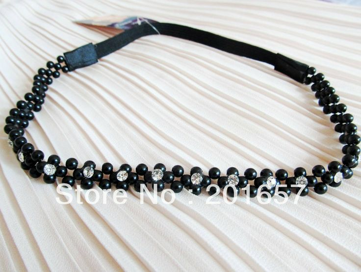 Wholesale and Retail korea style vintage bohemian pearl beads with gems headbands hiar accessories 12pcs/lot $16.00