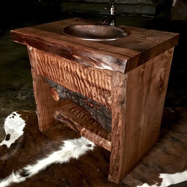 Wood Slab Bathroom Vanity Wood Slab Vanity Bathroom