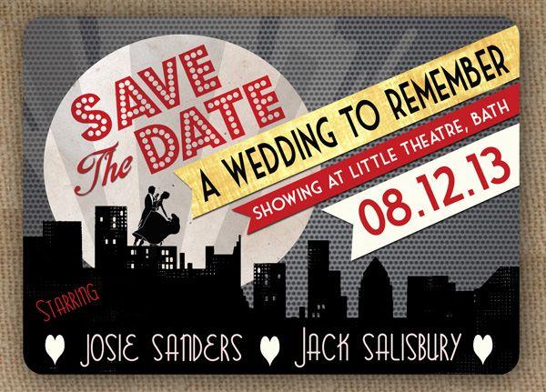 Gatsby Style Wedding Style Art Deco Movie Cinema Poster