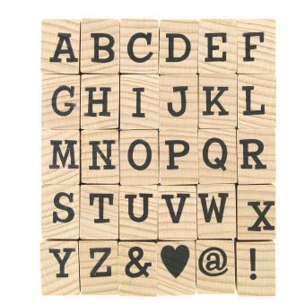 Bold Alphabet Wooden Stamps 30 Pack Alphabet Stamps