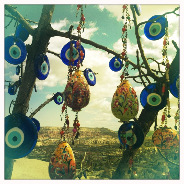 Evil Eye, used to ward off jealous people in your life. Taken on my recent trip to Cappadocia, Turkey.