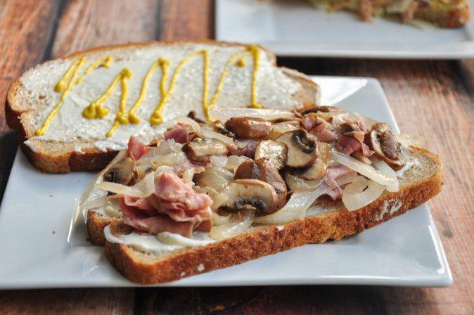 Fried Ham Sandwich