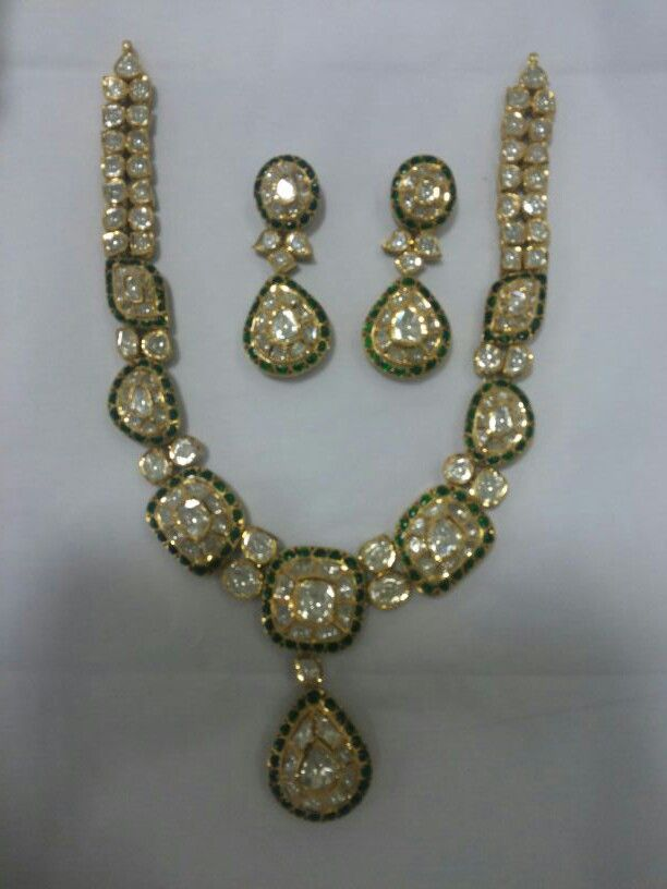 Diamond polki set , so simple n so  classic !!