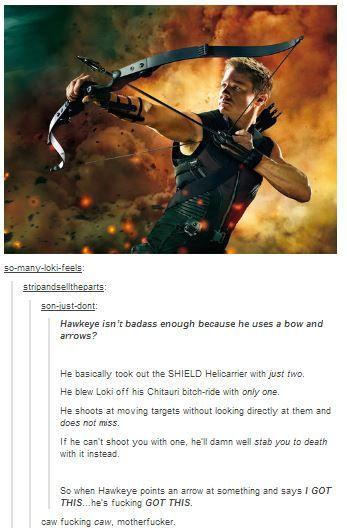 More Hawkeye badassery