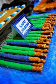 i should be mopping the floor: Light Saber Pretzel Sticks