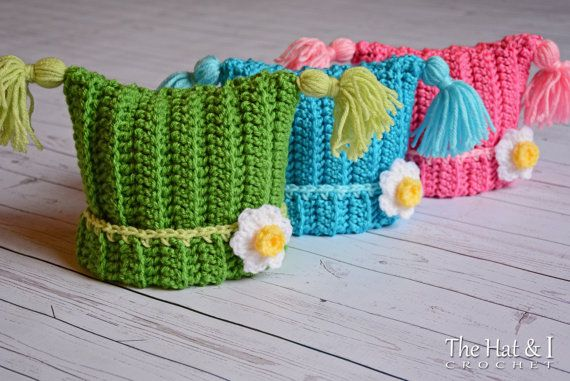 CROCHET PATTERN Winter Whimsy A square hat with by TheHatandI