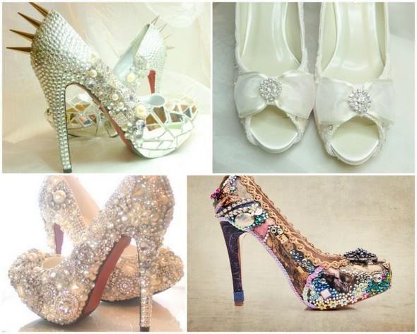 Туфли и свадебное платье
