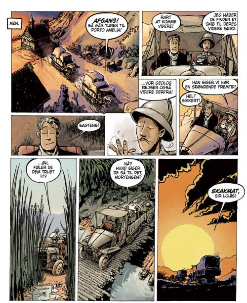 """Colouring by Lars Samsoe for """"The Santa Fe Jail"""" by Lars Jakobsen. Published by Graphic Universe."""