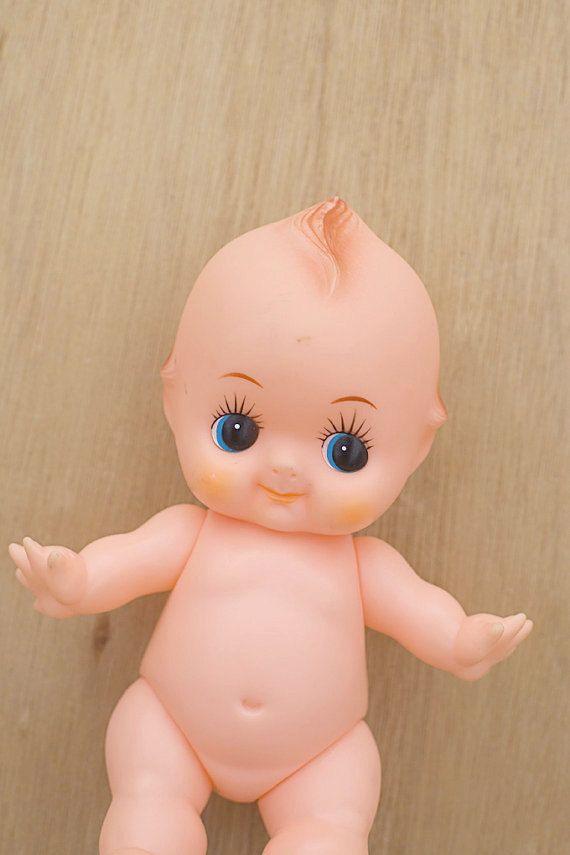 My great grandmother gave me this doll! Vintage Kewpie Doll Plastic Toy 70s