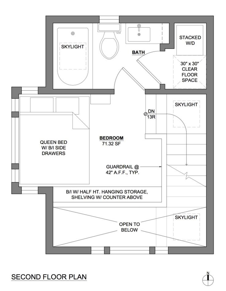 beautiful one bedroom guest house plans #8: This tiny 2-storey guest cottage has one bedroom in 342 sq ft. |
