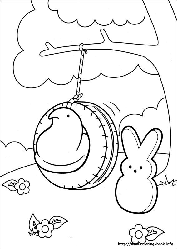 Marshmallow Peeps coloring pages on Coloring-Book.info