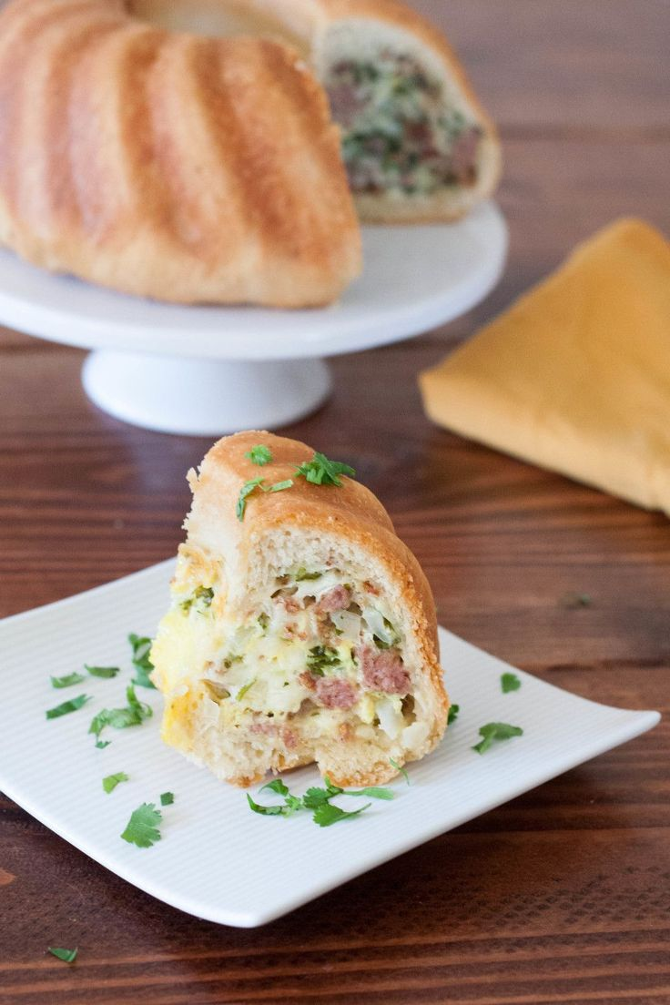 A savory stuffed bundt cake always makes a gorgeous brunch presentation. No one has to know how easy it is to make. Get the recipe on GoodieGodmother.com