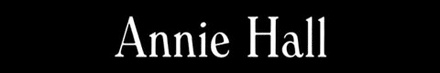 A tipografia de Woody Allen