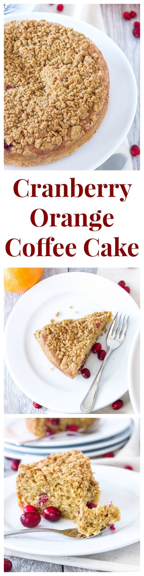 Cranberry Orange Coffee Cake | This moist and healthier coffee cake is ...
