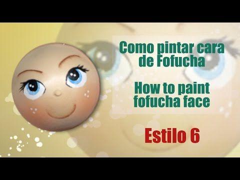 Como pintar cara fofucha 4 - How to paint fofucha face 4 - YouTube