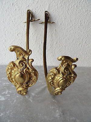 Ein Paar antike Raffhalter-Gardinenhalter-Messing  oder Bronze 19.Jhrd.