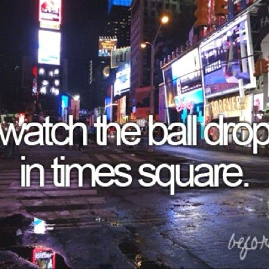 Time Square On New Years Eve ~ Would love an entire week in NYC. Last time I went I only had a full day and I saw 3 museum, Ellis Island, Statue of Liberty, went to the top of the Empire State Building and More. Would love to see a Broadway Play and skate at Rockefeller Center.