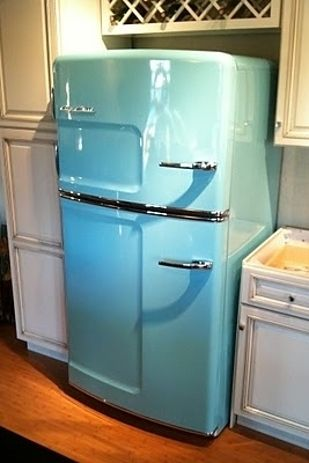 Tiffany Blue Refrigerator