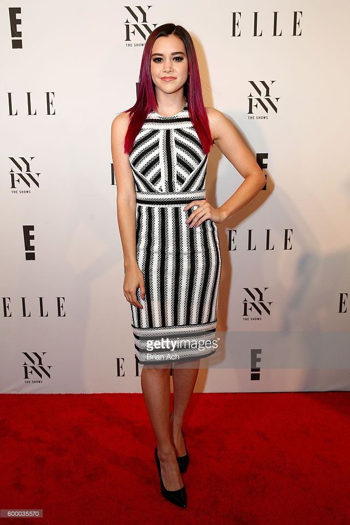 Singer Megan Nicole attends E! + ELLE + IMG Party to celebrate the opening of…