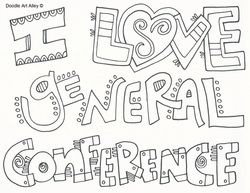 Coloring Pages for General Conference
