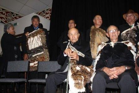Tiwi Black and Frank Vercoe - Tuhoe DOS Signing 2013 Representing Te Whanau Pani and Hamua