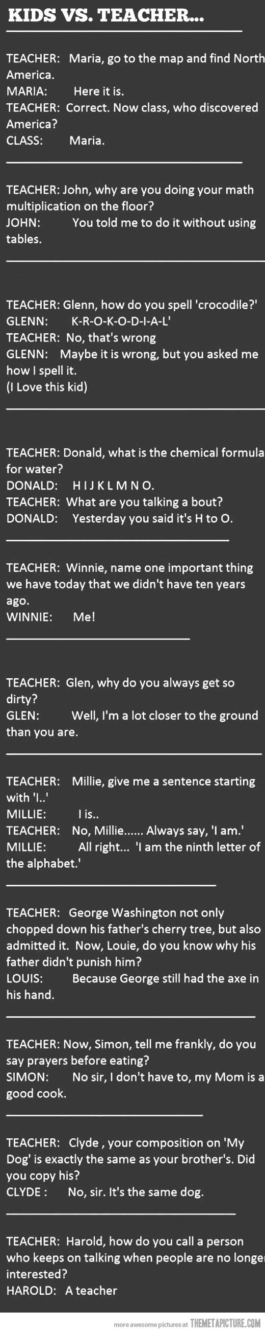 Kids are quick…and funny - Click image to find more Humor Pinterest pins