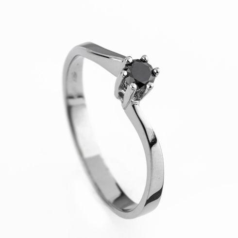Inel cu diamant negru DR1309
