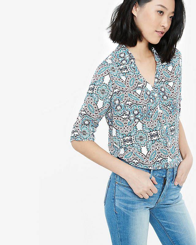 Original Fit Ornate Paisley Portofino Shirt | Express